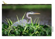 Great Blue Heron Hiding In The Grasses Carry-all Pouch