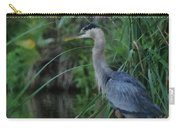 Great Blue Heron Painterly Carry-all Pouch