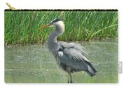 Great Blue Heron Carry-all Pouch by Paul Ward