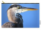 Great Blue Heron Portrait Blue Carry-all Pouch