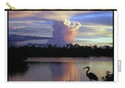 Great Blue Heron Sunset Carry-all Pouch