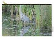 Great Blue Heron With Reflection Carry-all Pouch