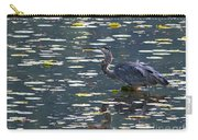 Great Blue Heron With Snack Carry-all Pouch