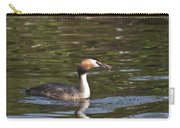 Great Crested Grebe With Breakfast Carry-all Pouch