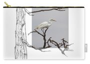 Great Egret - Gnarled Tree Carry-all Pouch