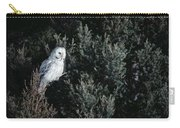 Great Gray Owl Strix Nebulosa In Blonde Carry-all Pouch