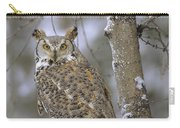 Great Horned Owl In Its Pale Form Carry-all Pouch by Tim Fitzharris