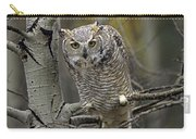Great Horned Owl Pale Form Kootenays Carry-all Pouch
