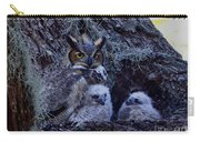 Great Horned Owl Twins Carry-all Pouch