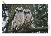 Great Horned Owls Young Carry-all Pouch
