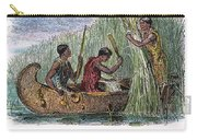 Great Lakes: Canoe, 19th C Carry-all Pouch