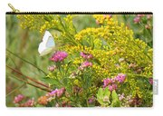 Great Southern White Butterfly Likes The Pink Flowers Carry-all Pouch
