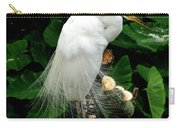 Great White Egret With Breeding Plumage Carry-all Pouch