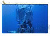 Great White Shark And Divers, Guadalupe Carry-all Pouch