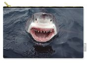 Great White Shark Smile Australia Carry-all Pouch by Mike Parry