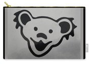 Greatful Dead Dancing Bear In Black And White Carry-all Pouch