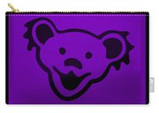 Greatful Dead Dancing Bear In Purple Carry-all Pouch