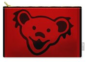 Greatful Dead Dancing Bear In Red Carry-all Pouch