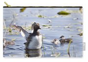 Grebe With Babies Carry-all Pouch