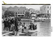 Greek Immigrants Fleeing Patras Greece - America Bound - C 1910 Carry-all Pouch