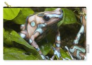Green And Black Poison Frog Carry-all Pouch