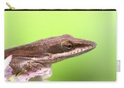 Green Anole In Pastels Carry-all Pouch