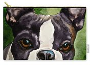 Green Black And White Carry-all Pouch