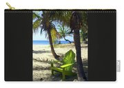 Green Chair On The Beach Carry-all Pouch
