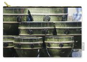 Green Circle Border Planters Carry-all Pouch