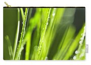 Green Dewy Grass  Carry-all Pouch by Elena Elisseeva