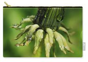 Green Flower Dew Drops Carry-all Pouch