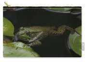 Green Frog And Lily Pads 9613 Carry-all Pouch