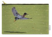 Green Heron In Flight Carry-all Pouch