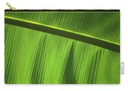 Green Leaf, Close-up Carry-all Pouch