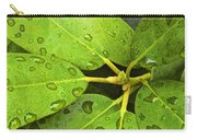 Green Leaves With Water Droplets Carry-all Pouch