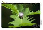 Green Oak Leaf And Flower Carry-all Pouch