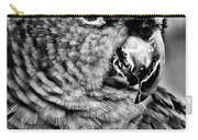 Green Parrot - Bw Carry-all Pouch