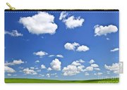 Green Rolling Hills Under Blue Sky Carry-all Pouch