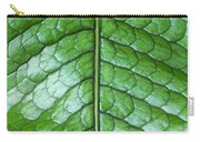 Green Scaly Leaf Pattern Carry-all Pouch