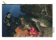 Green Sea Turtle And Underwater Carry-all Pouch