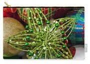 Green Star Christmas Ornament Carry-all Pouch