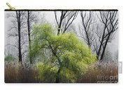 Green Tree And Pampas Grass Carry-all Pouch