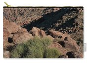 Green Tuft In Sandstone Carry-all Pouch