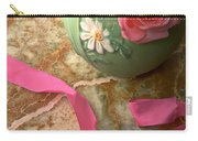 Green Vase With Roses Carry-all Pouch