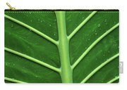 Green Veiny Leaf 1 Carry-all Pouch