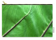 Green Veiny Leaf 2 Carry-all Pouch