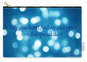 Greeting Card Blue With White Lights Carry-all Pouch