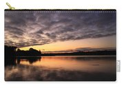 Grey Clouds And Orange Sunrise Carry-all Pouch