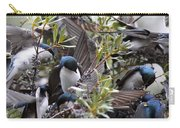 Grey Feathers - Tree Swallow Carry-all Pouch