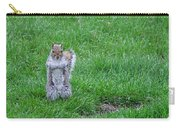 Grey Squirrel In The Rain II Carry-all Pouch